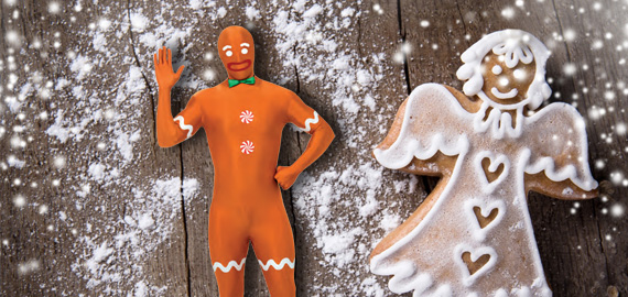 Costume Second Skin Gingerbread Man
